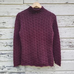 Vintage Knit Turtle Neck Sweater For Fall